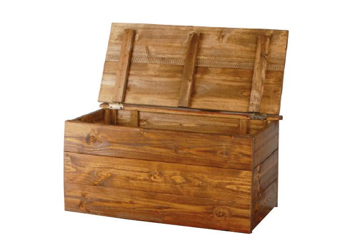 Cassapanca in legno cm 100 x 58 x 58 colore noce o naturale for Cassapanca legno grezzo