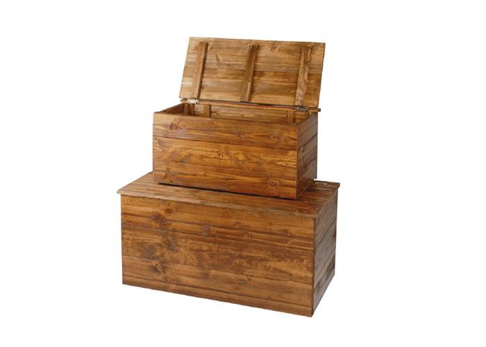 Coppia cassapanche in legno cm 60 x 30 x 30 e 80 x 40 x 40 for Cassapanche legno
