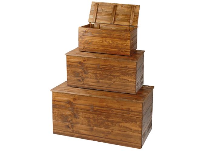 Tris cassapanche in legno for Cassapanche in legno per esterno